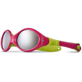 Julbo Looping I Spectron 4 Sunglasses Baby 0-18M Fuchsia/Lime Green-Gray Flash Silver